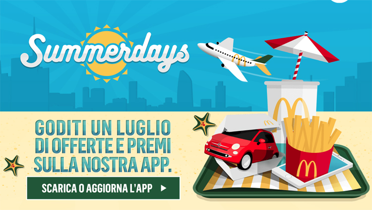 Summerdays McDonald's: scopri i coupon con l'offerta del giorno