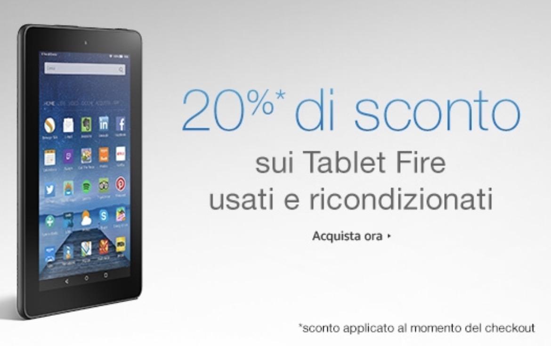 Amazon Tablet Fire 7 ricondizionati da 34,96 Euro