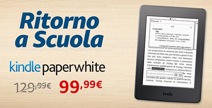 Kindle Paperwhite in sconto di 30 Euro