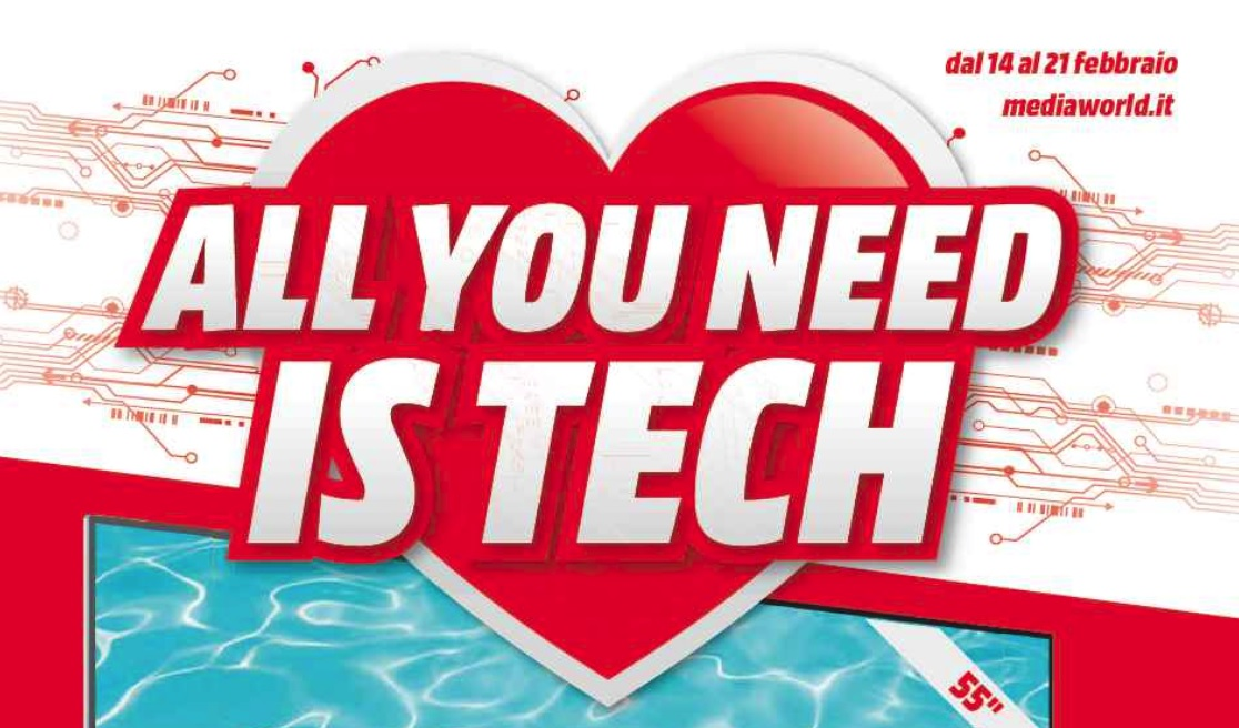 "Nuovo volantino MediaWorld ""All you need is tech"" (agg. con volantino formato digitale)"