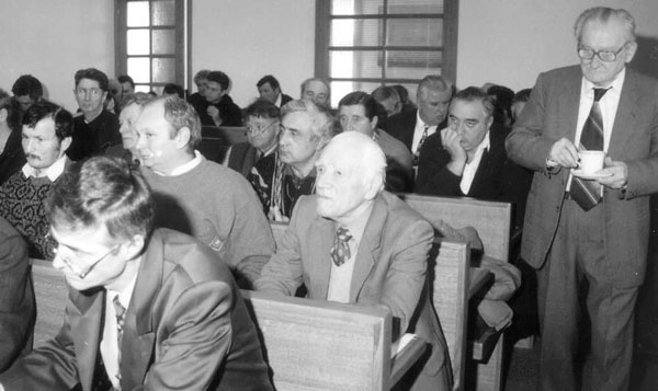 Aspect de la o ședință a Consiliului Comunității Românilor din Iugoslavia ținută în sala mică a Primăriei din Vârșeț