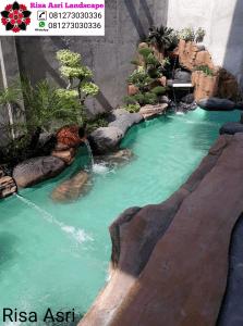 Jasa Dekorasi Kolam Tebing Samarinda Ornamen Relif 3d