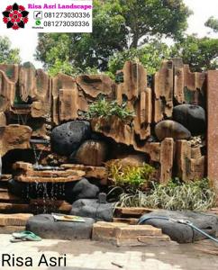 jasa dekorasi kolam tebing ornamen relif surabaya gresik sidoarjo Jasa Dekorasi Kolam Tebing Ornamen Relif 3d Surabaya
