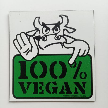 100 percent vegan magnet