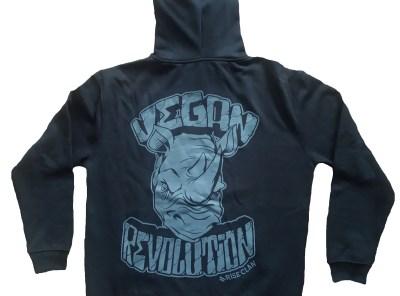 Vegan Revolution Rhino Hoodie back