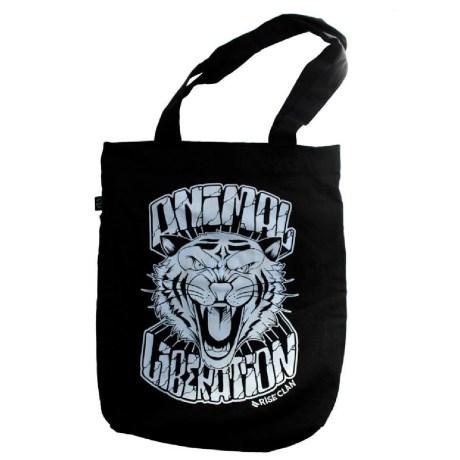 animal liberation tiger tote bag