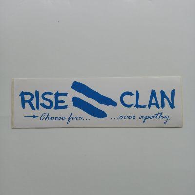 rise clan blue sticker