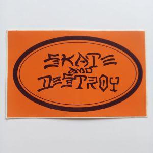 skate and destroy sticker