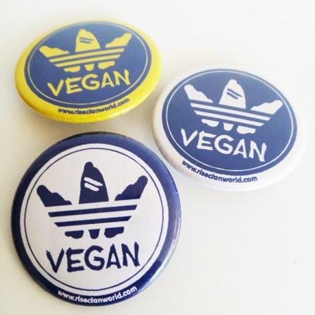 vegan logo button
