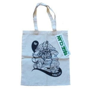 yes it's vegan tote bag black