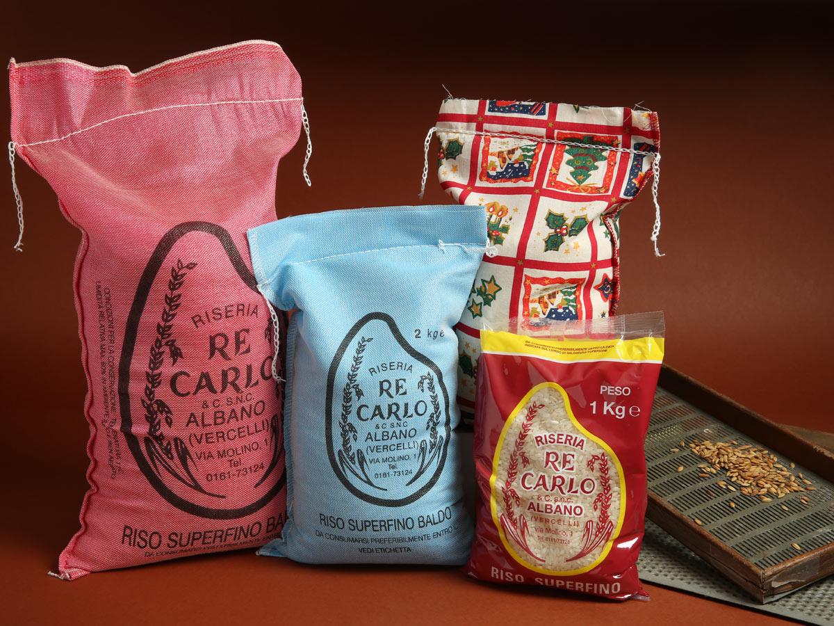 Riseria Re Carlo - Riso superfino Baldo - l'autentico riso vercellese di qualità - confezioni da 1kg, 2kg, 5kg e natalizie