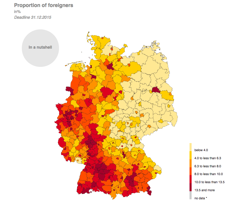 Germany Map of Foreign Population - A Dangerous Method:  Zurich University Study Exemplifies Double-Edged Sword of Migration Policy in Europe