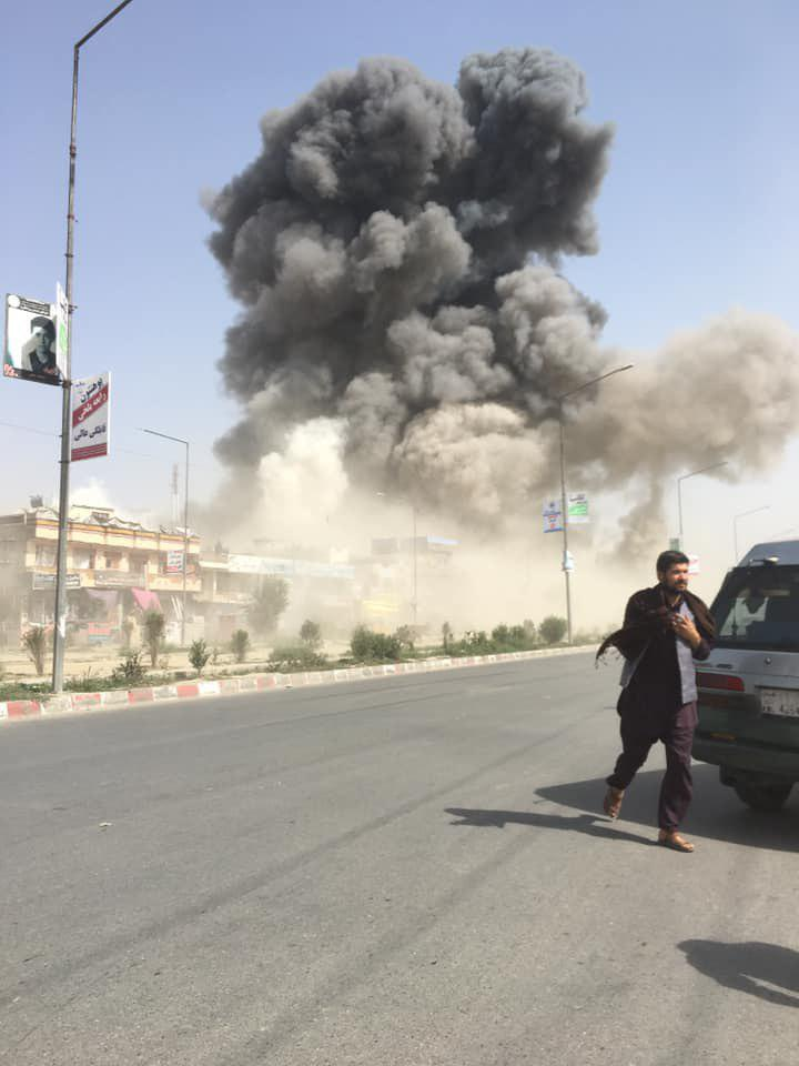 Suicide blast kills 18 and injures 145 as Taliban continue talks with U.S.