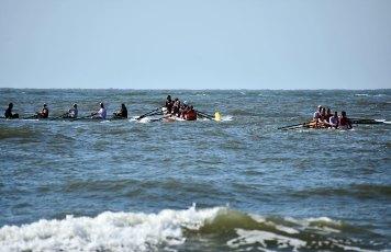 In diesem Jahr gab es erstmalig auch Vierer Rennen bei der 2. Amrum Coastal Rowing Challenge. Foto: fast-sports.de