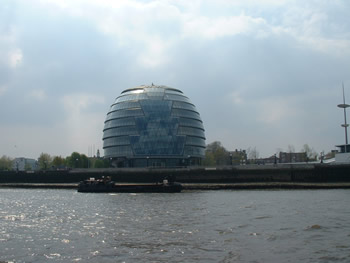 The new home of the Mayor of London viewed from the Thames