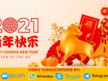 Chinese New Year 2021 Metal Ox Xin Chou