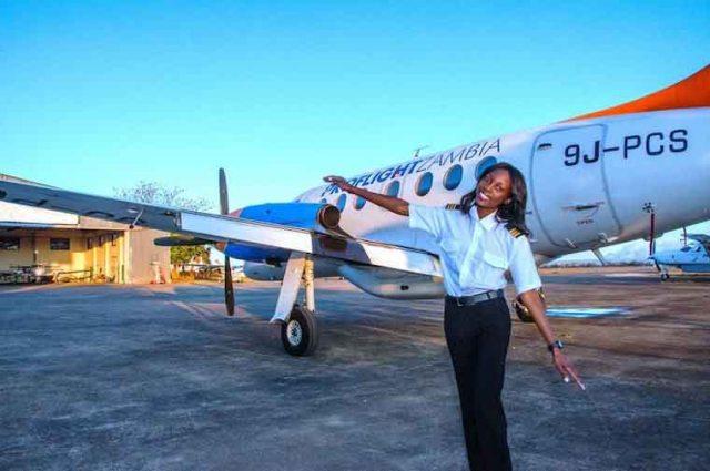 """The sky is not the limit"" Besa Mumba says. Photo: Proflight Zambia"