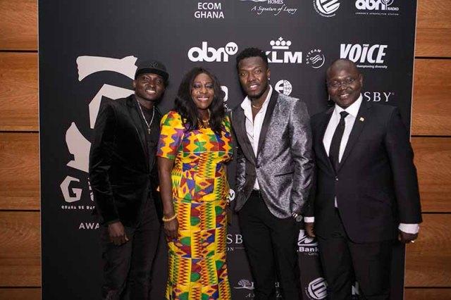 Hon Catherine Afeku with Reggie N Bollie