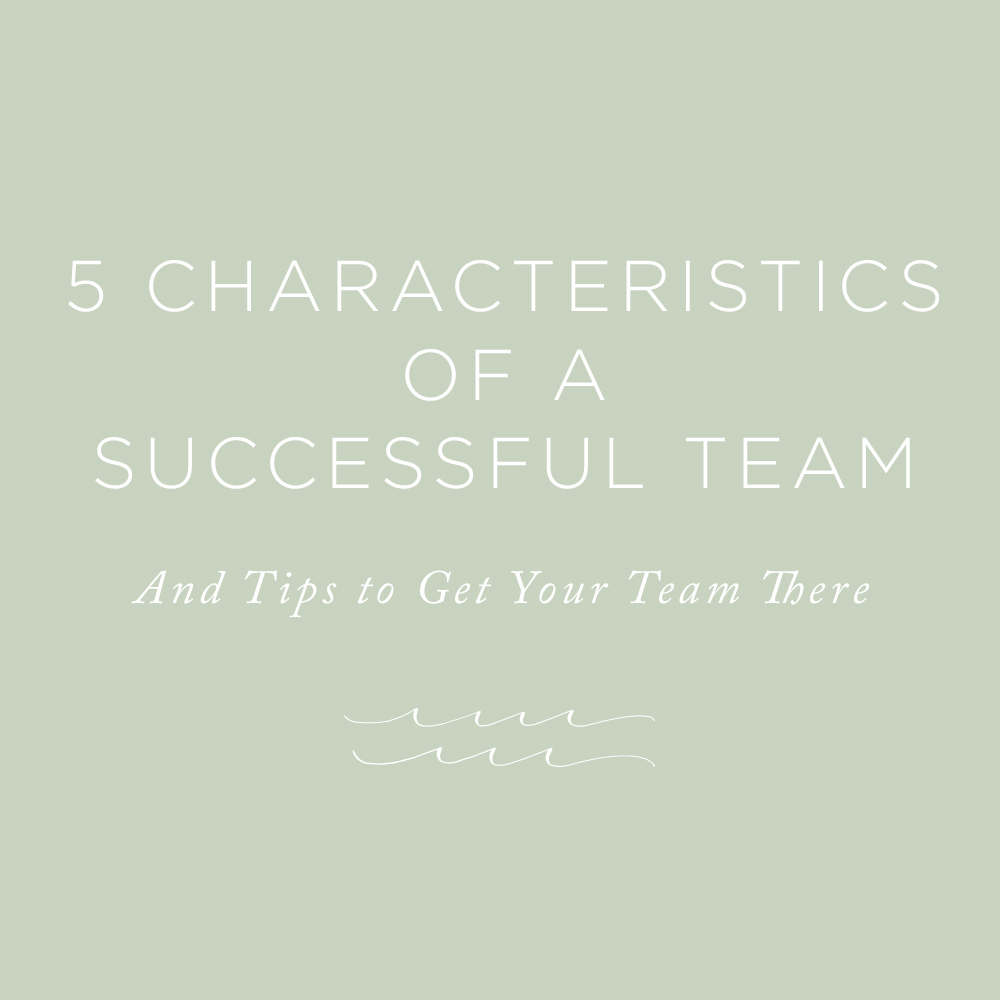 Characteristics of a Successful Team | via the Rising Tide Society