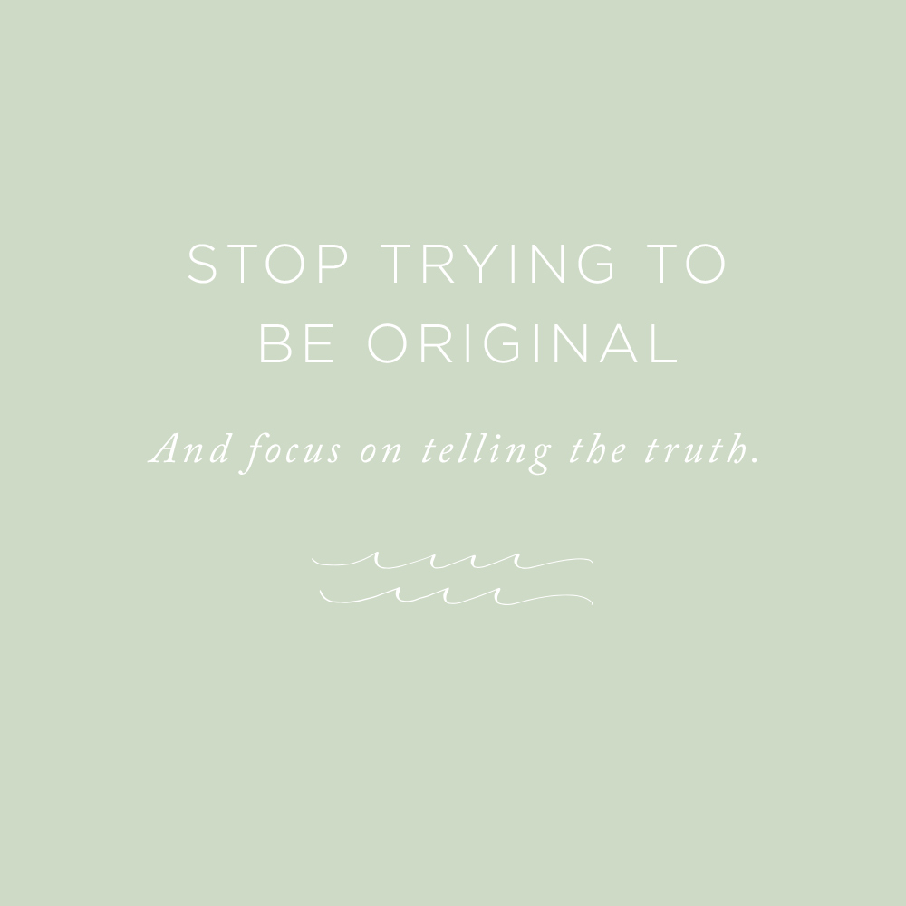 Stop Trying to be Original | via the Rising Tide Society