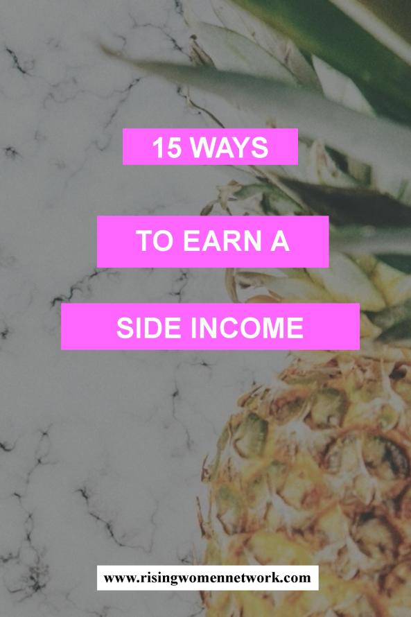 Establishing sources of side income are important -- they makes those tough times easier and definitely relieve some stress.