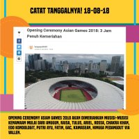 5 Fakta Menarik Asian Games 2018