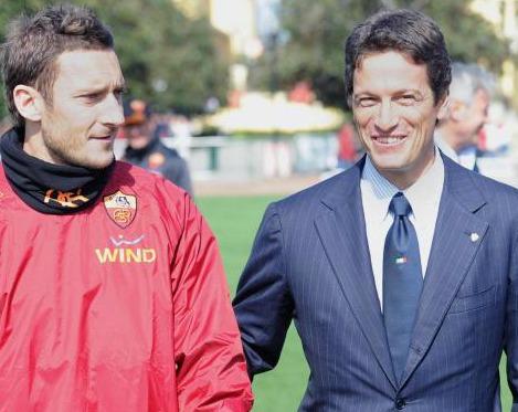 Luca Parnasi e Francesco Totti per lo Stadio della Roma