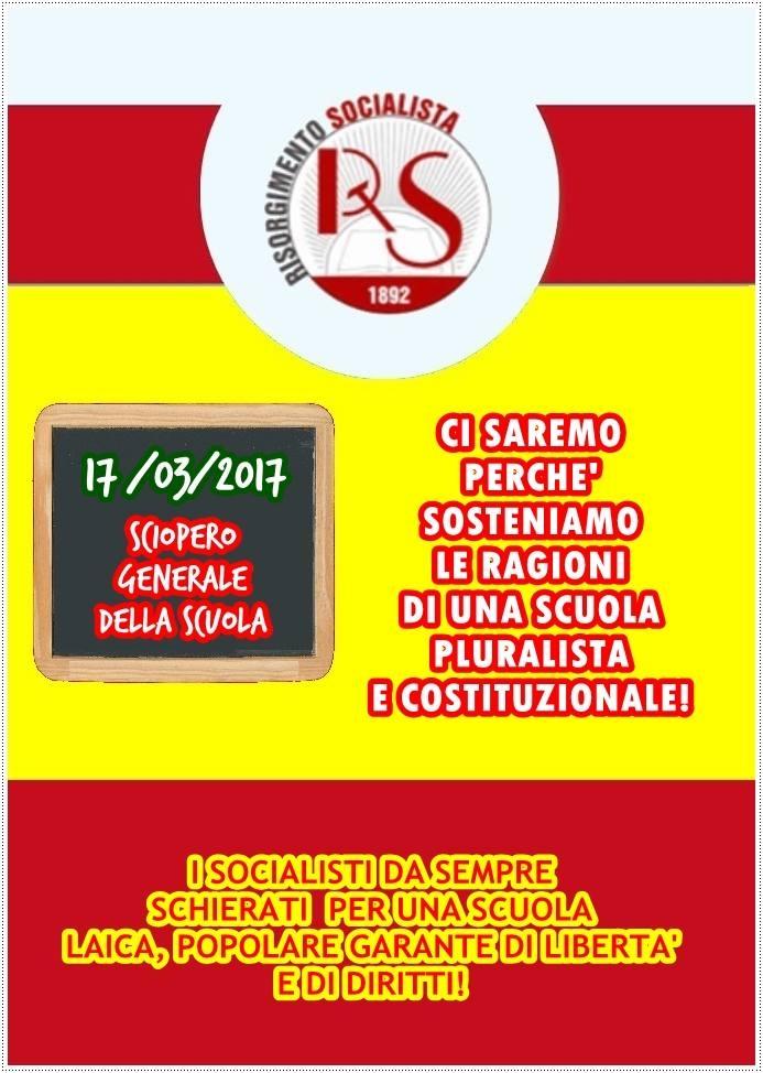 Risorgimento Socialista - sciopero scuola