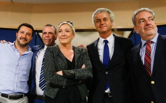 Salvini, Le Pen, Wilders, marcia della destra populista