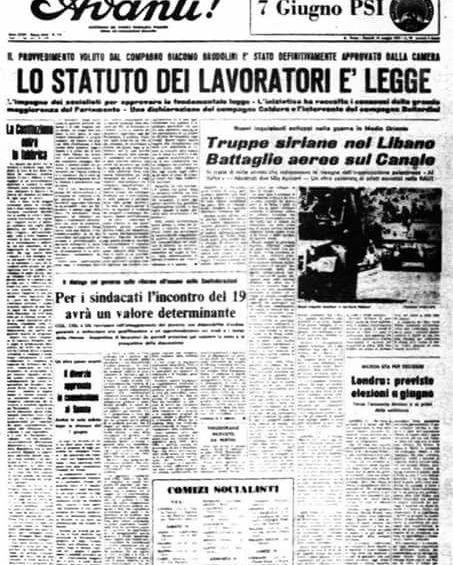 20 maggio 1970: lo Statuto dei lavoratori è legge