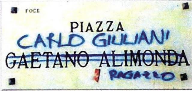 Carlo Giuliani assassinato durante il G8