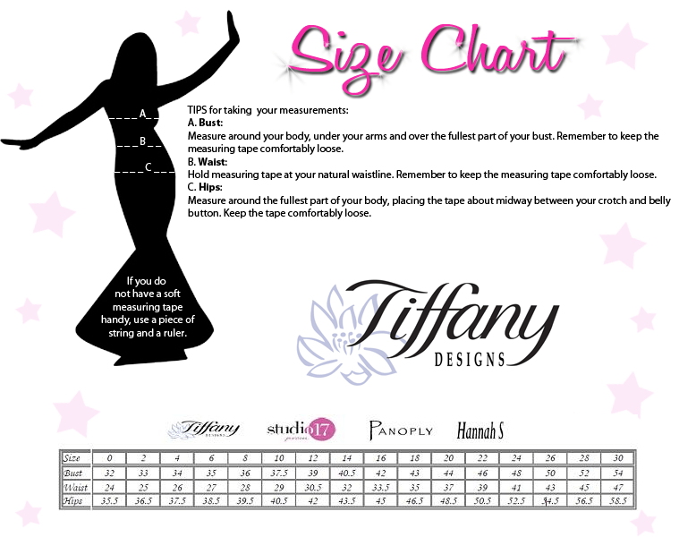 Size Tiffany Girls Chart