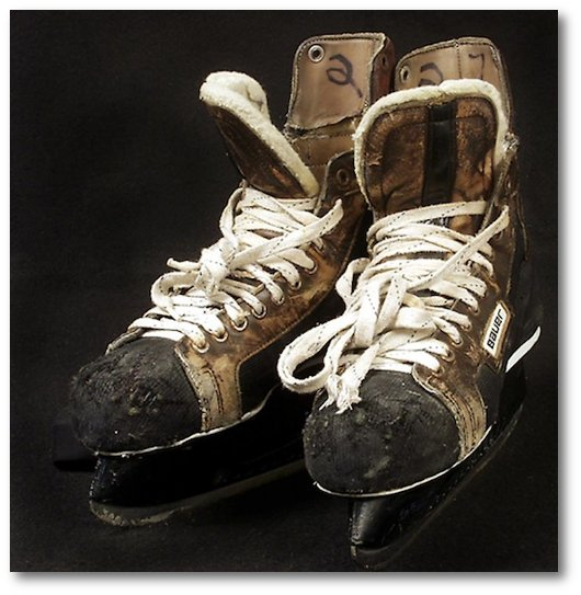 Phil's skates at the Smithsonian