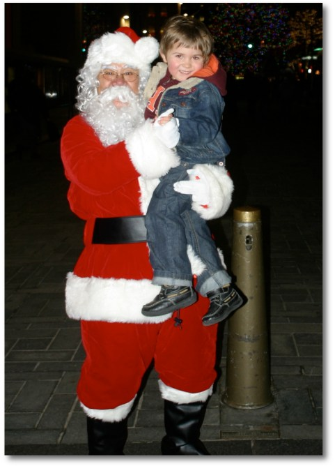 Santa and Son in the same photo...