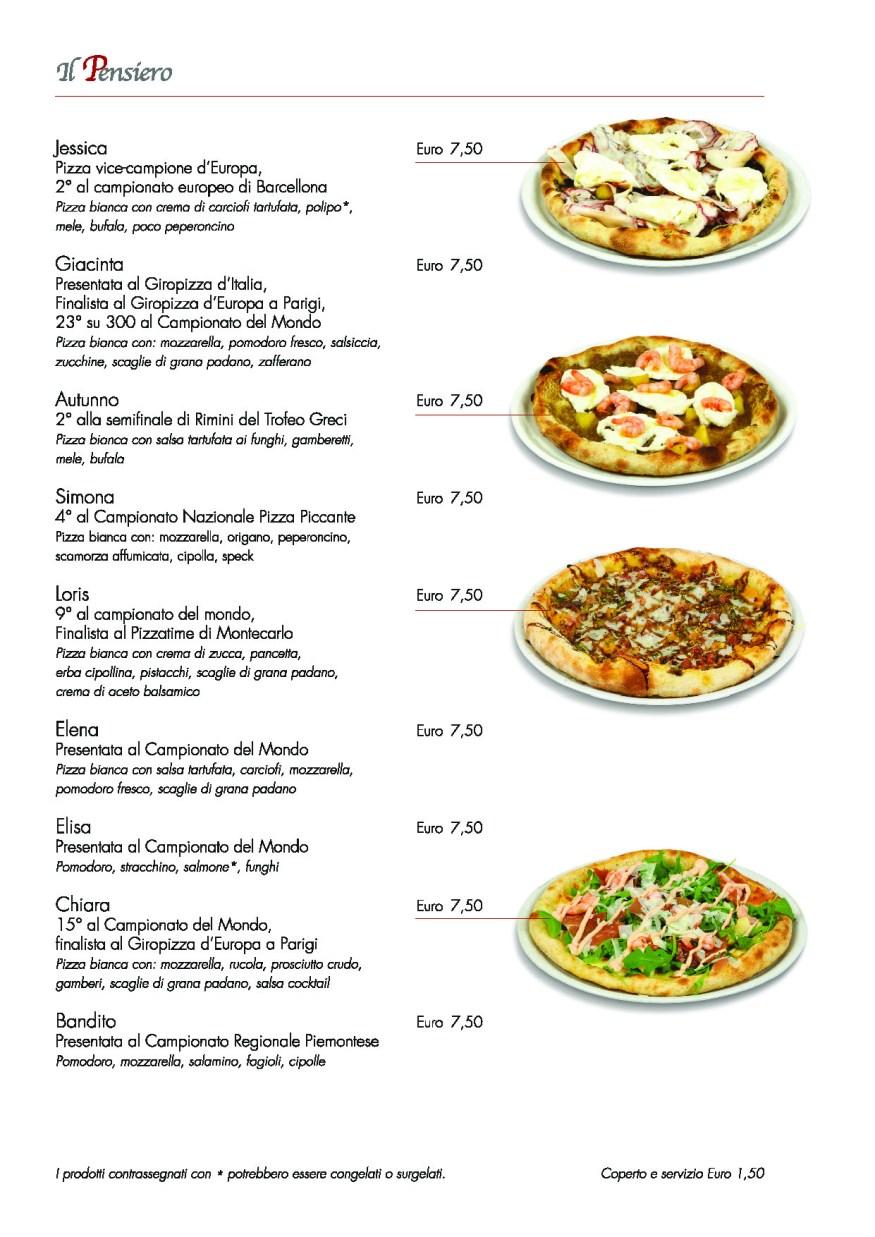 Menu Pizza Internazionali
