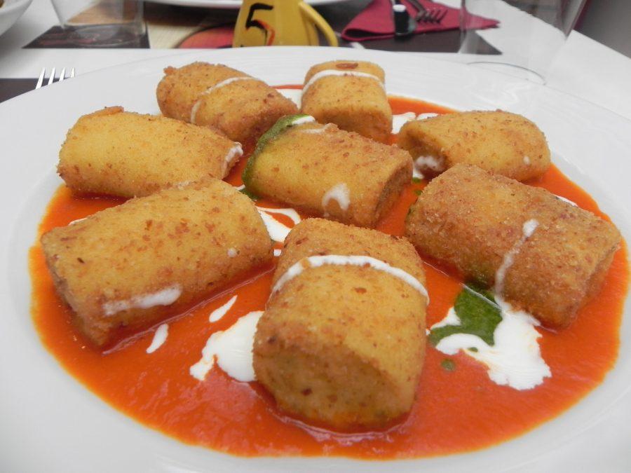 FRIED PACCHERI PASTA stuffed with Caciocavallo Podolico Cheese