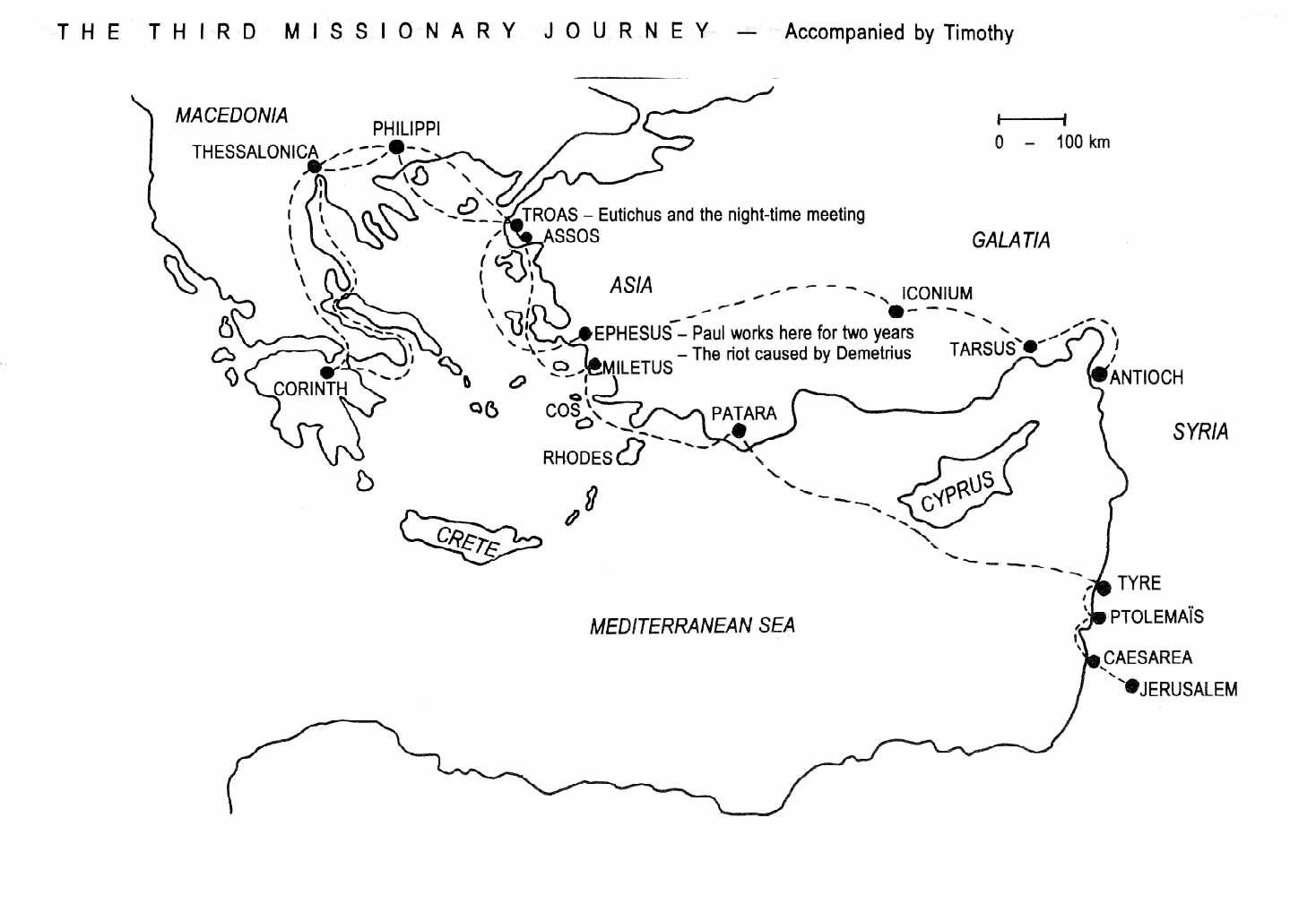 Pauls Third Missionary Journey Map