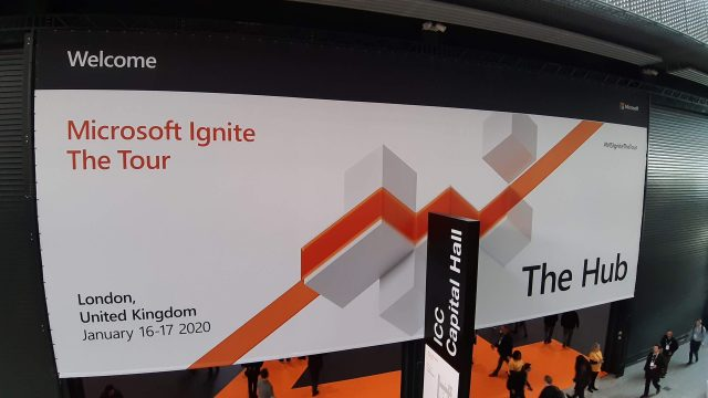 photo of the Ignite Tour entrance banner