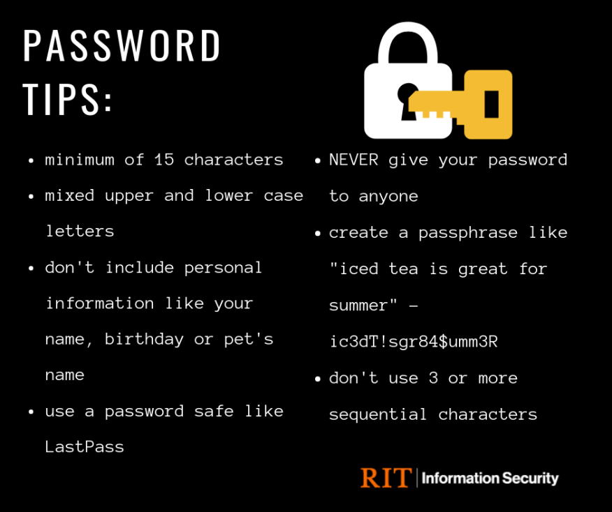 Creating Strong Passwords | RIT Information Security