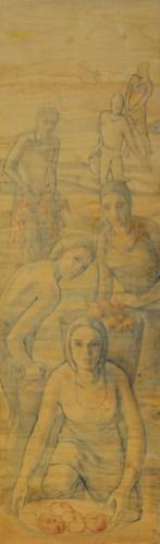 Pomodori olio su tavola 50x170