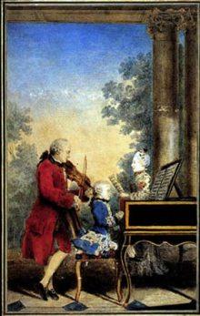 I piccoli Mozart fanno musica con il padre