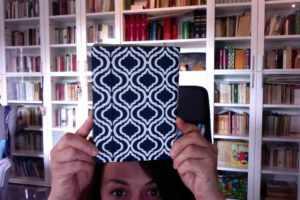 Il mio Kindle nella sua custodia