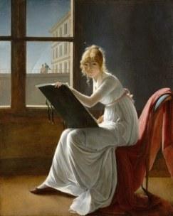 Villiers-Giovane donna che dipinge