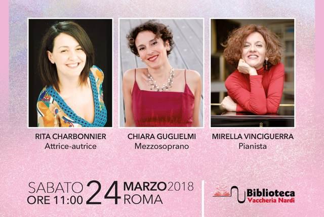 """""""Tre note, tre donne"""" a Roma il 24 marzo"""