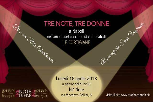 """«Tre note, tre donne» a Napoli per """"Le Cortigiane"""""""
