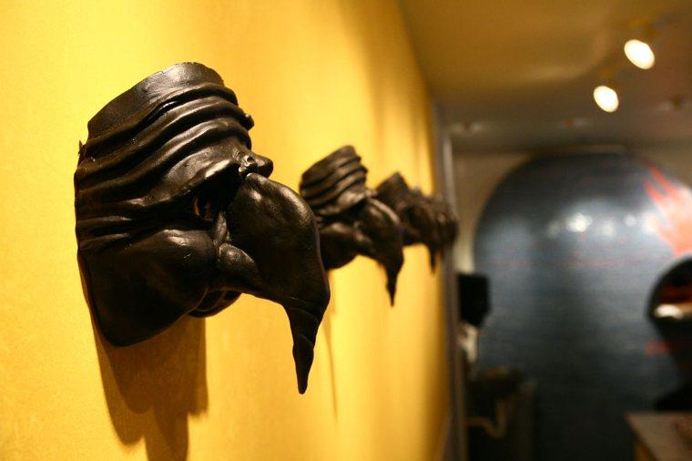 Alcune maschere di Pulcinella.