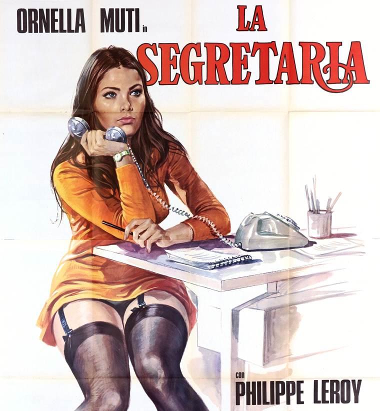 """Direttrice direttora segretaria: la locandina del film """"La segretaria"""" con Ornella Muti"""