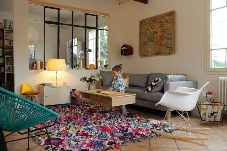 le precieux tapis et le nouveau salon