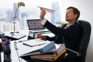 procrastination office worker image