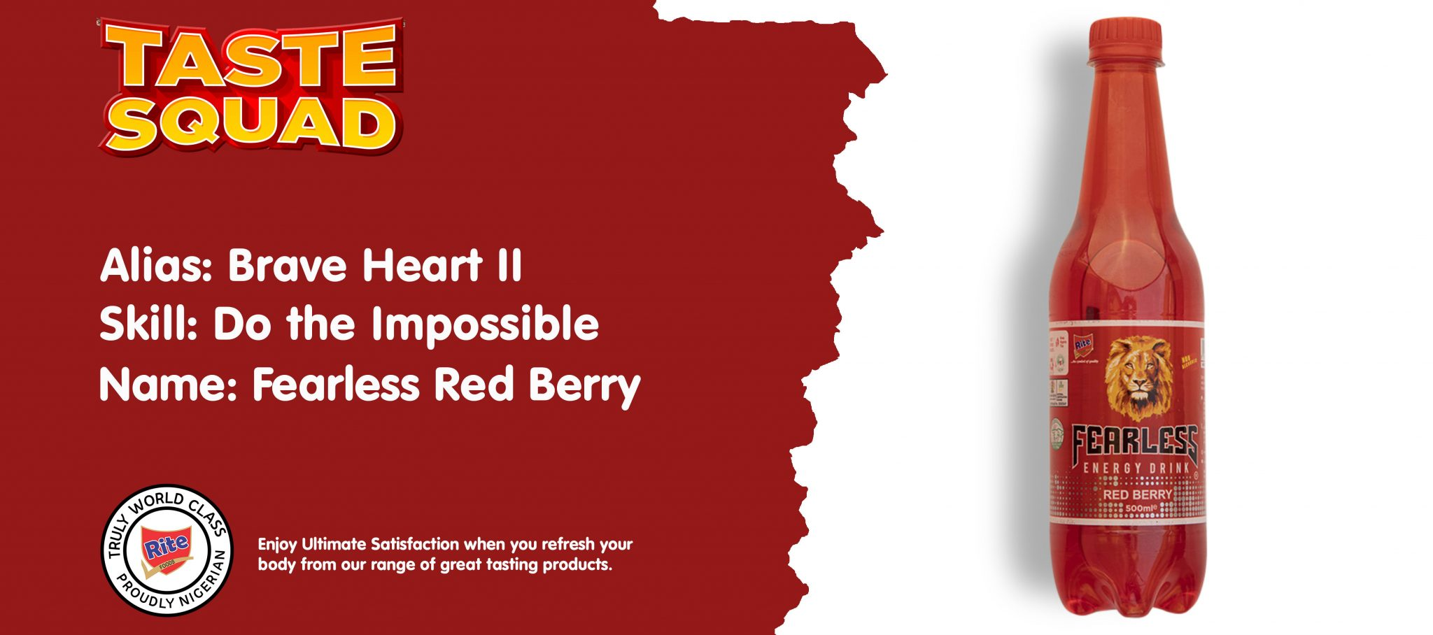 Fearless Red Berry Energy Drink